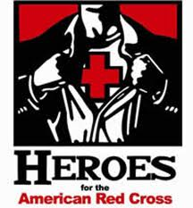 Poster that says 'Heroes for the American Red Cross'