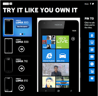 Nokia Lumia 900 Demo Application