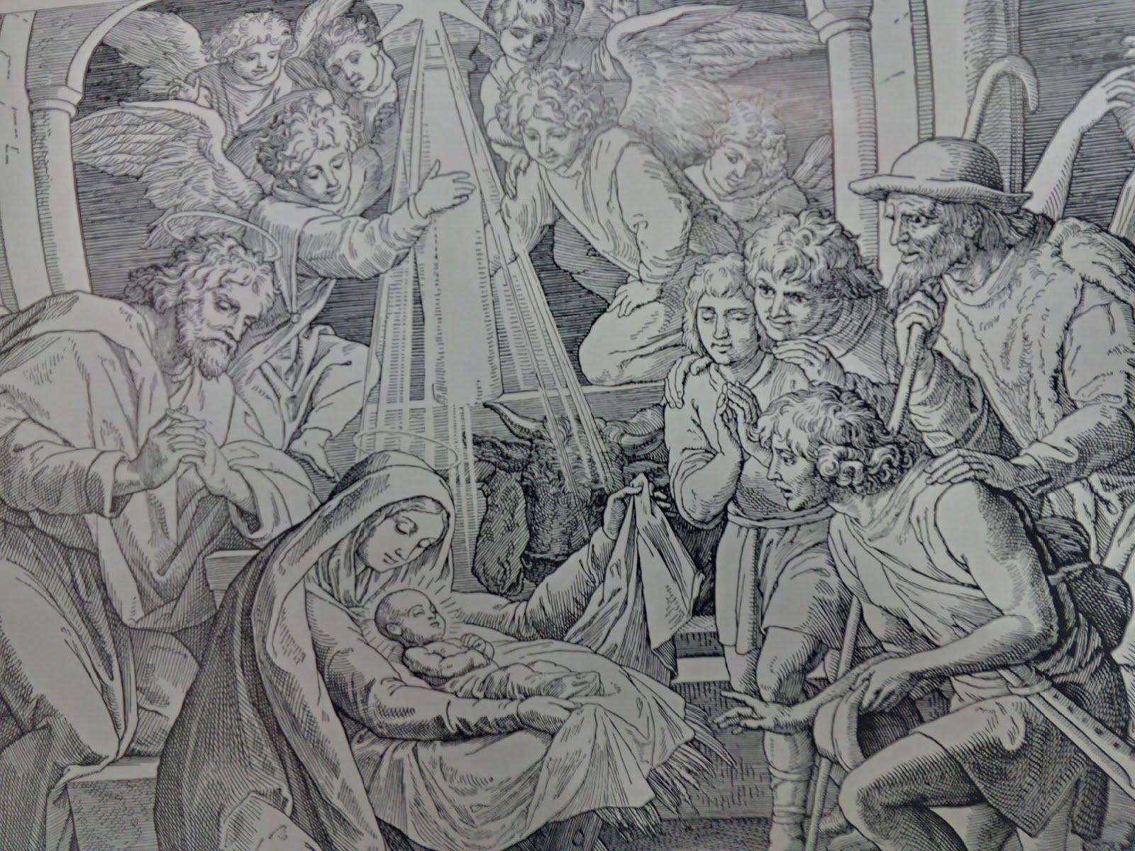 Illustration zur Weihnachtsgeschichte
