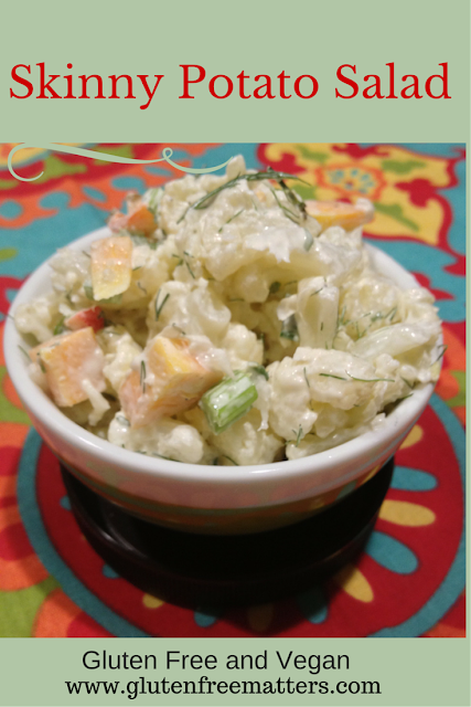 Skinny potato salad alternative in a bowl