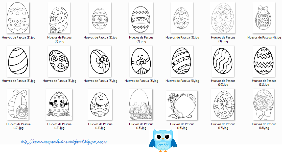Play & Learn: Huevos de Pascua para colorear