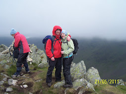 Me & sean at the highest point of the walk Kidsty Pike
