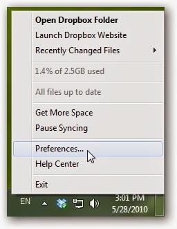 مزامنة مجلدات معينة مع خدمة Dropbox