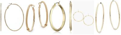 Jennifer Lopez Textured Hoop Earrings $9.80 (regular $14.00)  Saks Fifth Avenue Sandblasted Hoop Earrings $9.99 (regular $21.00)  Robert Lee Morris Soho Prisma Gold Tone Hoop Earrings $21.00 (regular $30.00)  Gorjana G Ring Hoop Earrings $39.90 (regular $60.00)  Saks Fifth Avenue 14K Yellow Gold Hoop Earrings $99.99 (regular $289.99)