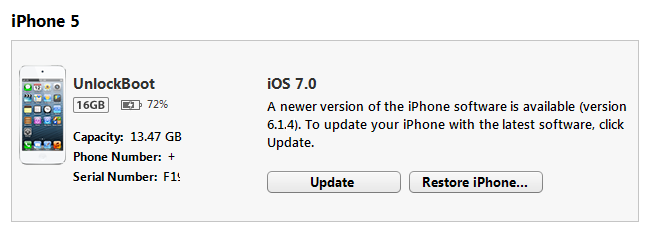 iPhone 5 IOS 7.0 Install iTunes