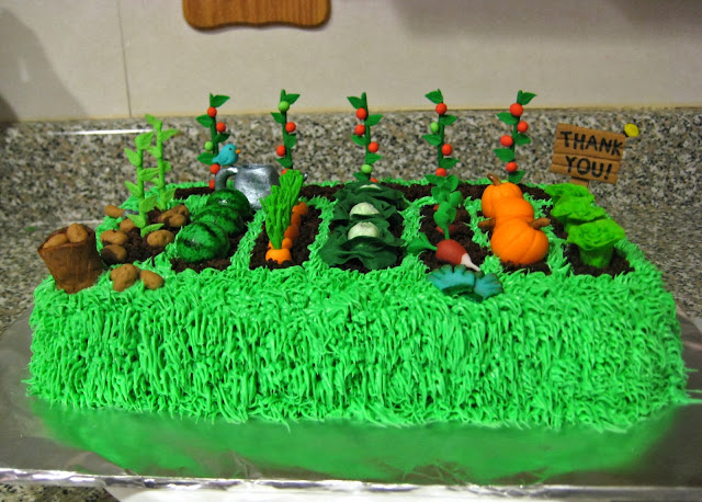 Teacher Appreciation Garden Cake 2