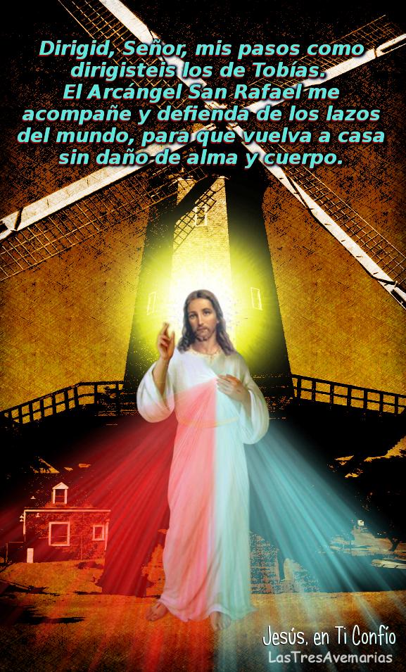 fotografia de jesus con oracion a un arcangel