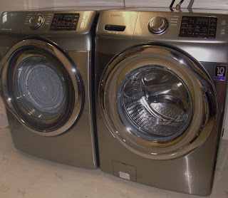Samsung, front load washer, steam dryer, tj's green adventure