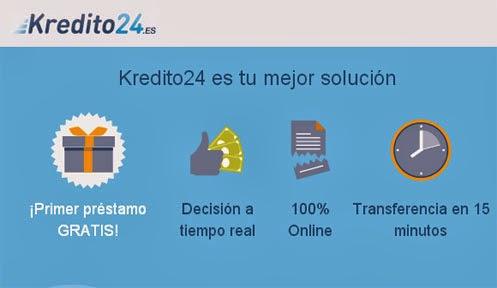 Préstamos de dinero en Kredito24 microcrédito en el momento