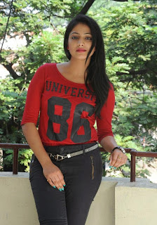 Haripriya in Red Top and Tight Trousers Spicy Pics