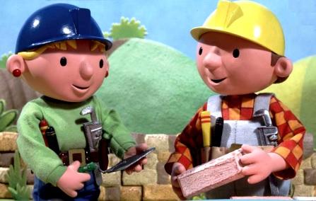 Dibujo de Bob el Constructor con uno de sus amigos