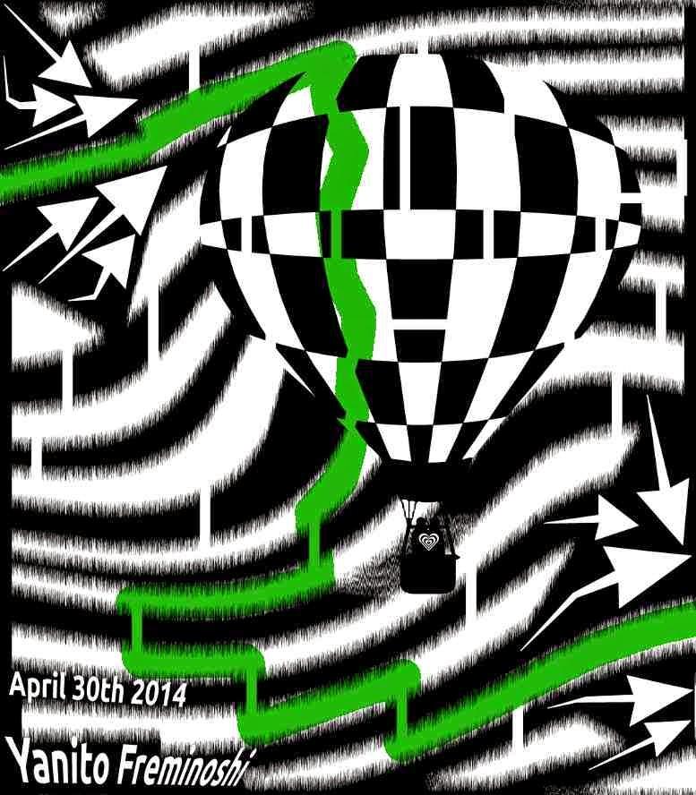 Maze Solution Hot Air Balloon