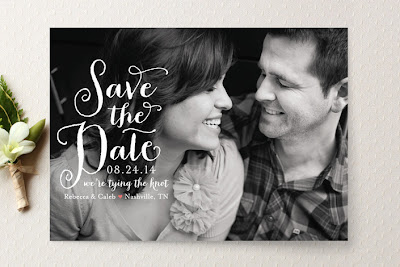 save the date photo card minted