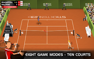 Screenshots of the Stick Tennis Free Android apk Games for Android tablet, phone.