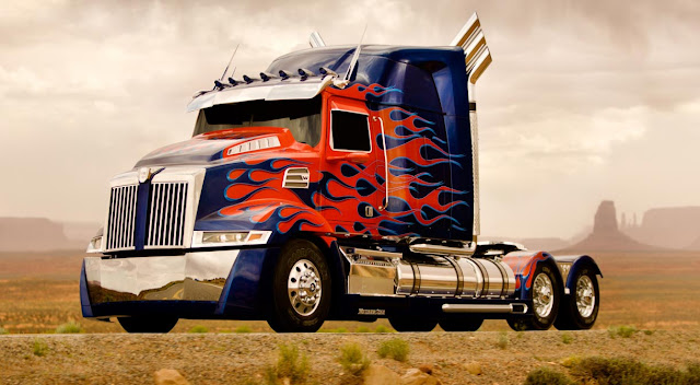 optimus prime truck mode transformers 4