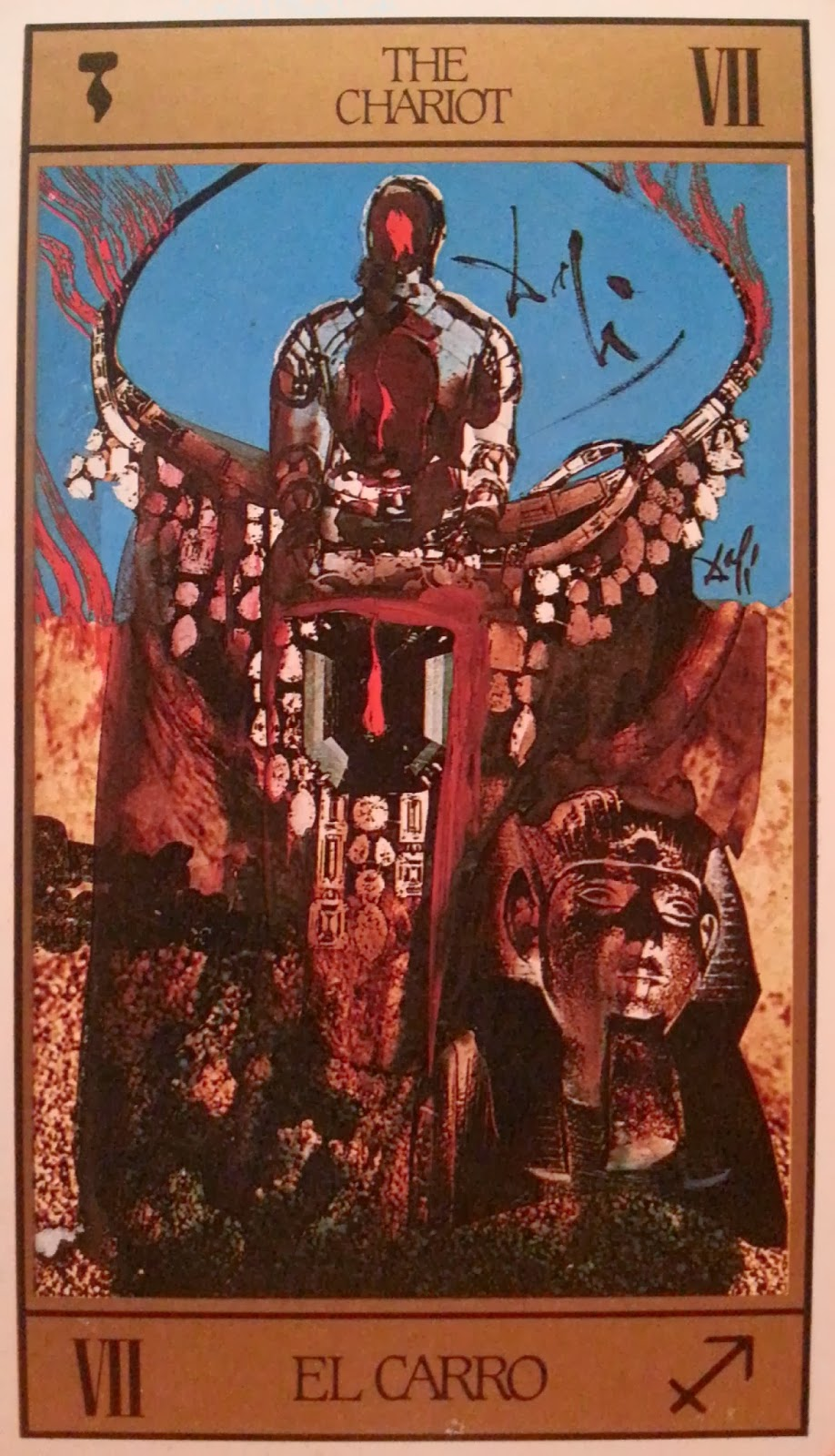 El Carro- Tarot Dalí