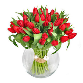 bunga tulip elegant, jual bunga tulip jakarta, rangkaian bunga tulip