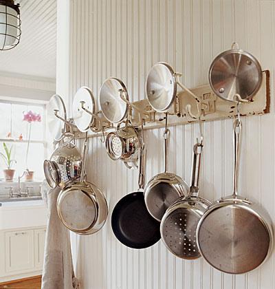 rustiques pot rack ideas
