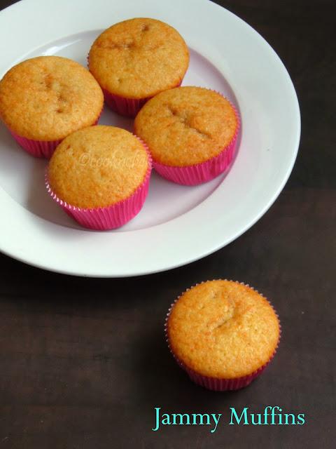Jam filled muffins, jam muffins