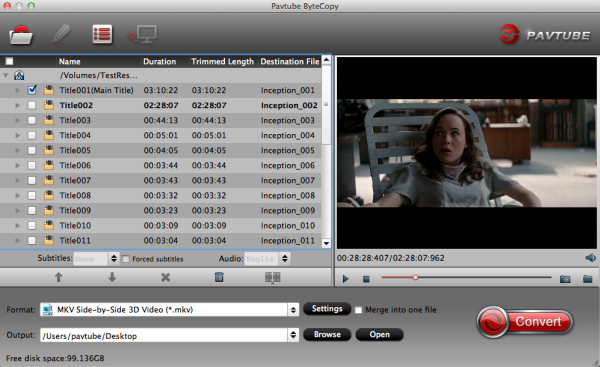 3D Blu-ray Converter for Mac