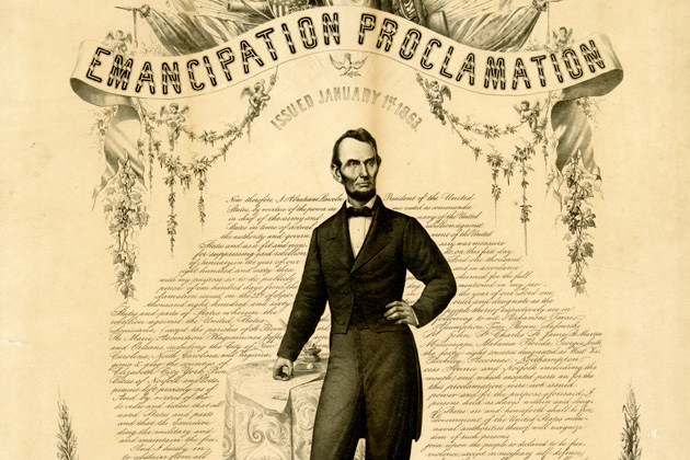 emancipation proclamation Abraham lincoln the emancipation proclamation 1863 context on jan 1, 1863, us president abraham lincoln declared free all slaves residing in territory in rebellion against the federal government.