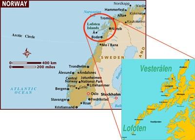 New Life In Spain Lofoten Islands Midnight Sun - Norway map lofoten islands