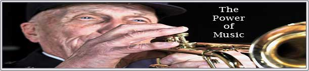 Jack Tueller playing his trumpet