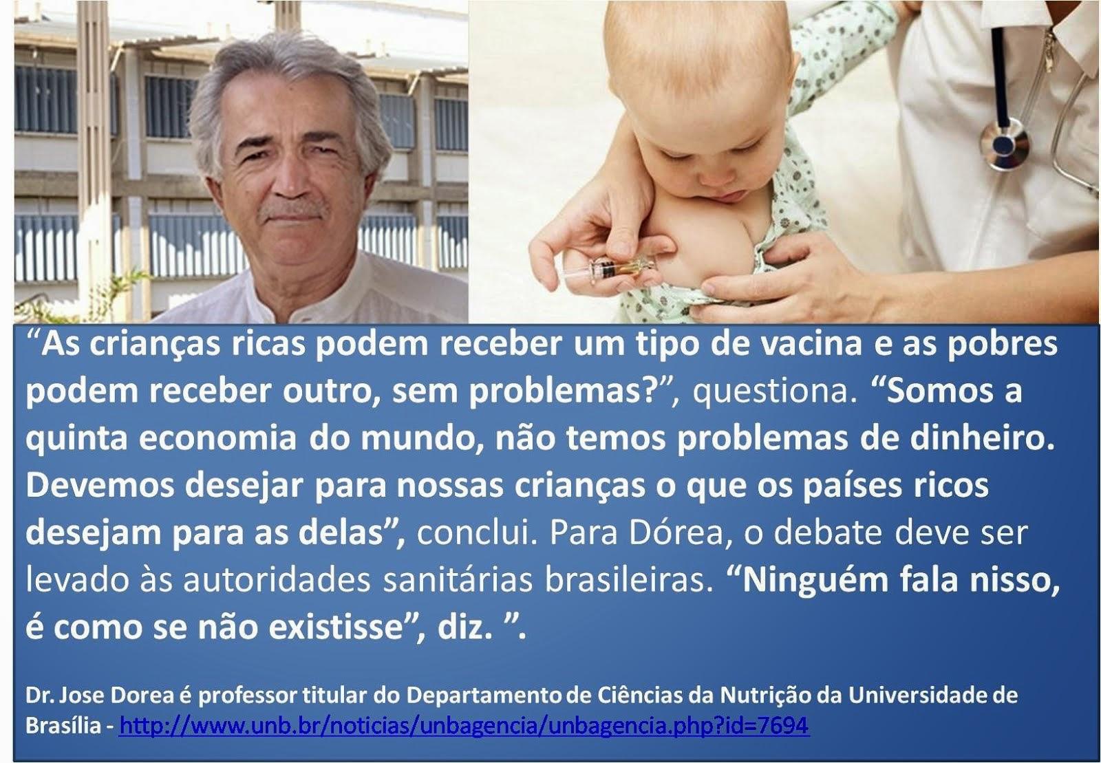 PELO FIM DO USO DE ETHYLMERCURY E ALUMÍNIO NAS VACINAS INFANTIS