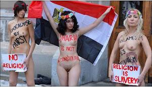 لخت شدن زنان مصری جلوی درب سفارت در استکهلم +18