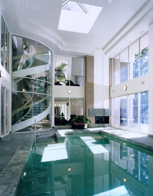 Trend homes indoor swimming pool for your home decoration for Fancy swimming pool designs