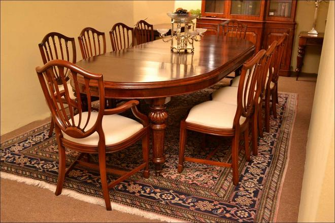 Antique dining room furniture styles white classic design for Antique dining room tables