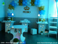 Mesa decorada para festa de Chá de Bebê (Chá de fraldas) - festa infantil