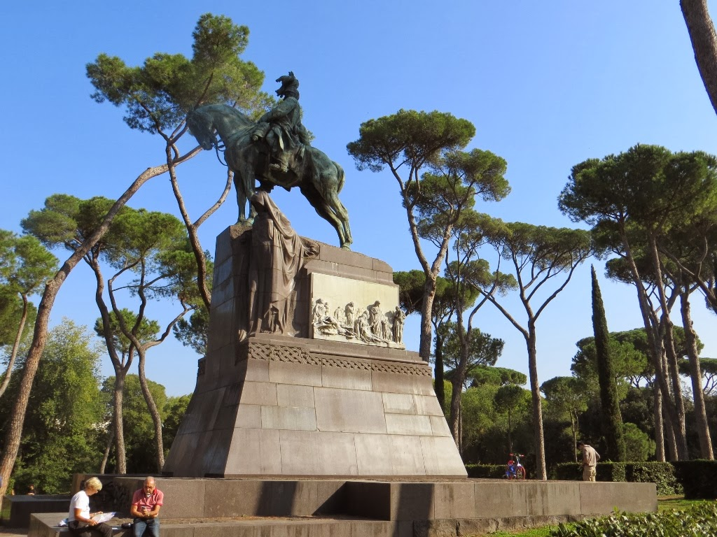 Statue in Borghese Gardens, Rome, Italy