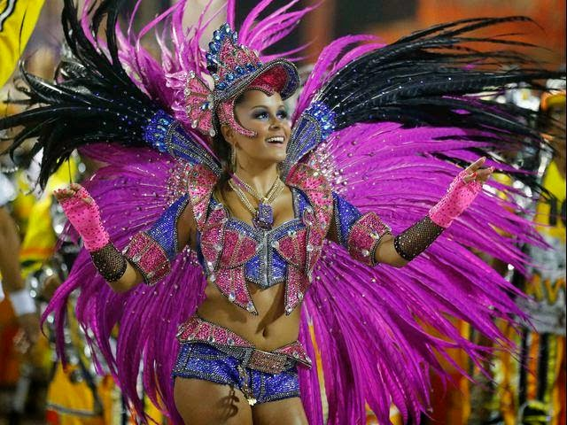 Brazilian Samba Dance. Beauty, Sexy and Hot Model Girls.