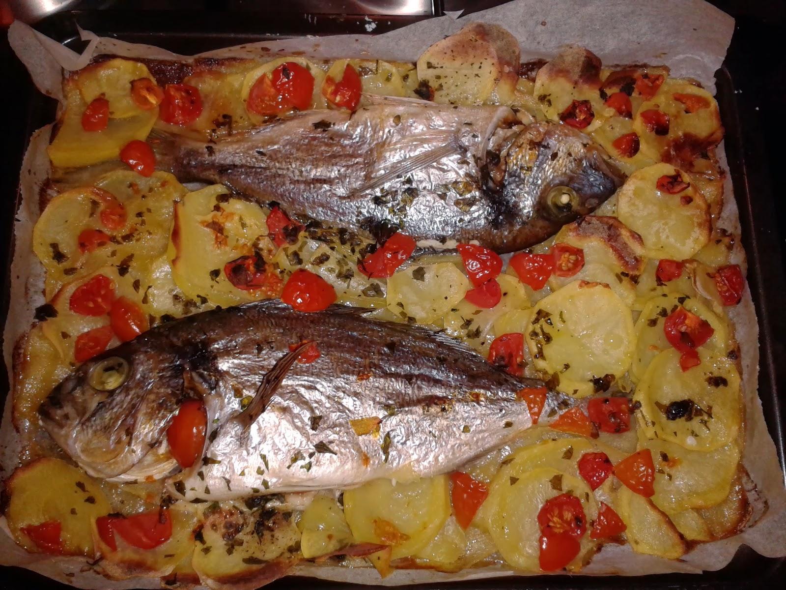 Cucina figli recensioni orata al forno su letto di patate - Filetto di orata al forno su letto di patate ...