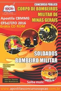 Apostila Concurso CBMMG curso de formação soldado combatente 2016/2017.