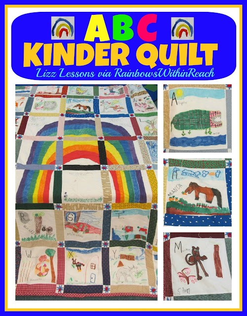 photo of: ABC Kindergarten Quilt of Children's Art via RainbowsWithinReach