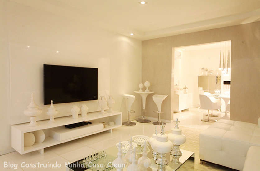 Sala Pequena Toda Branca ~ cor mais clean de todas!