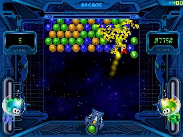 لعبة الكرات الملونة Space Bubbles