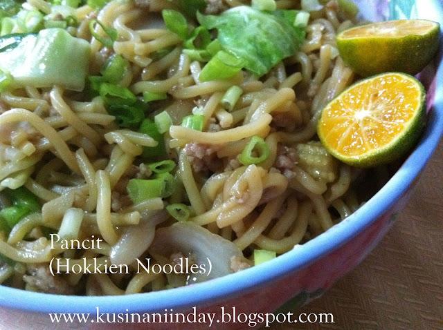 Pancit (Hokkien Noodles)