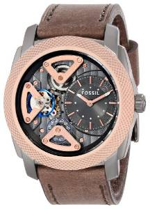 Fossil ME1122 Mechanical Twist Leather Watch Brown