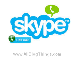 Add Skype Contact Widget In Blogger Blogs
