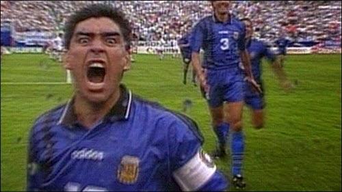 Comemoração Maradona contra Grécia copa do mundo 1994