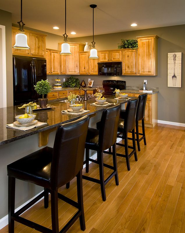 lane kitchen inspiration gray paint color with honey oak cabinets