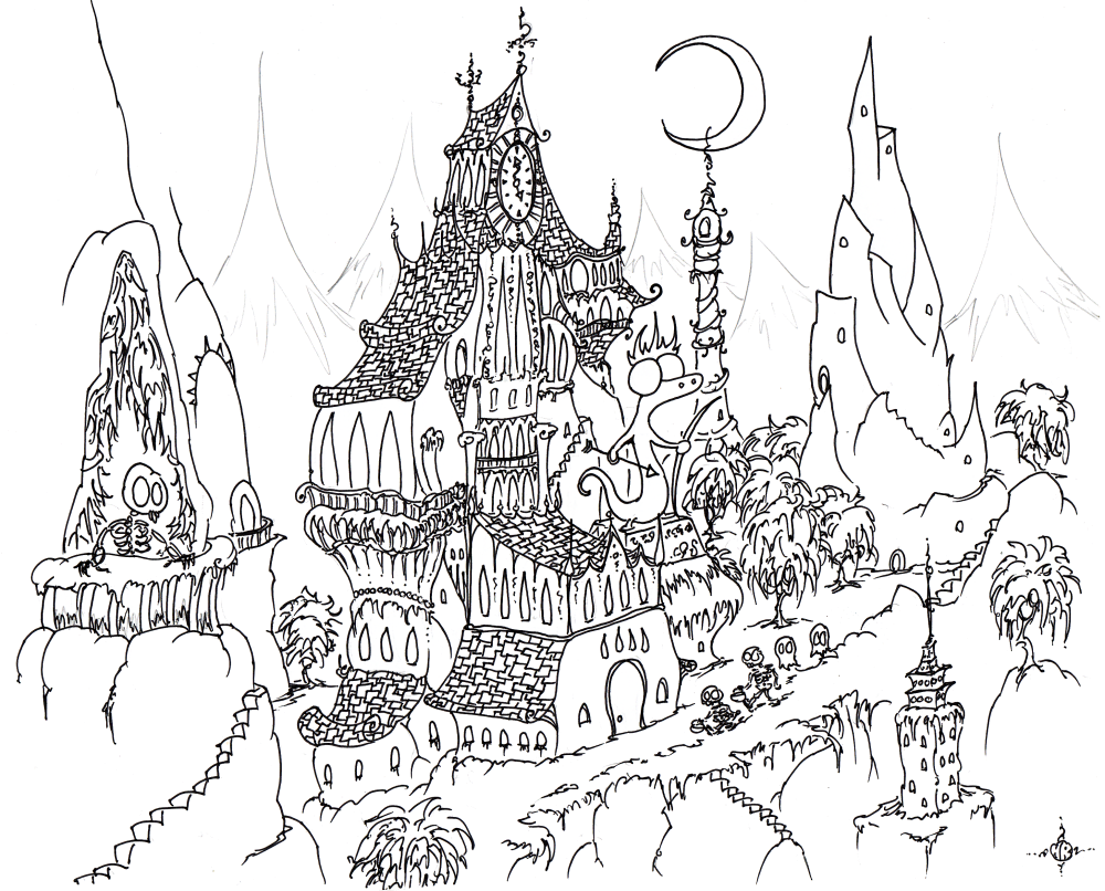 detailed halloween coloring pages - photo#3