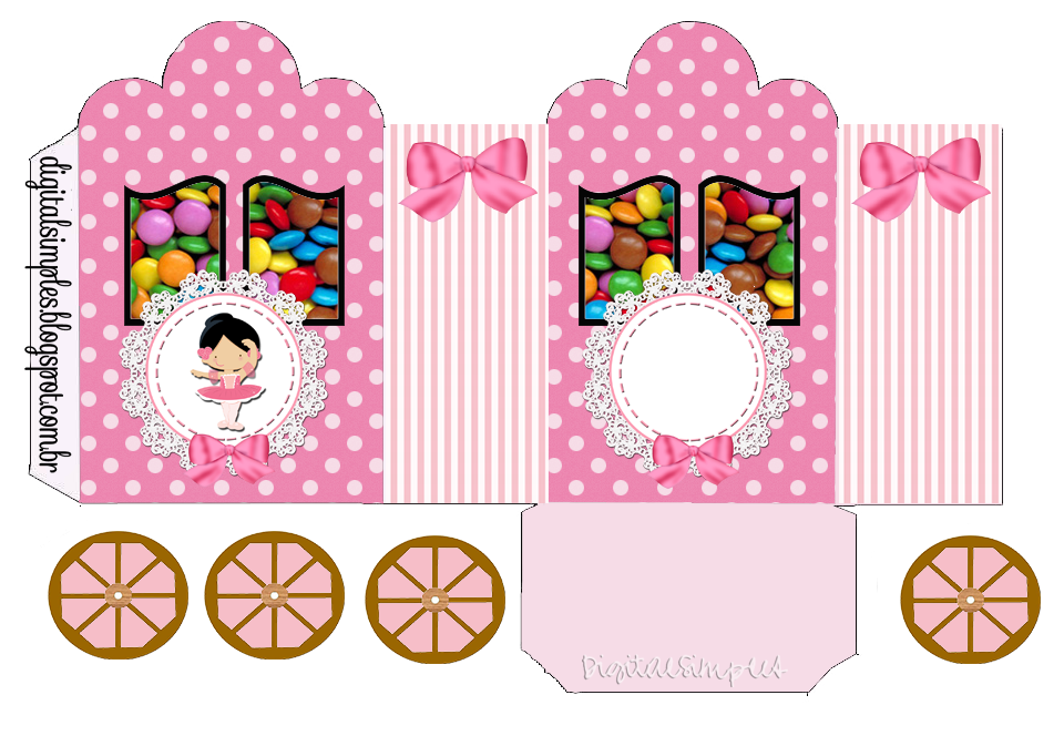 Sweet Ballerina: Princess Carriage Shaped Free Printable Boxes.