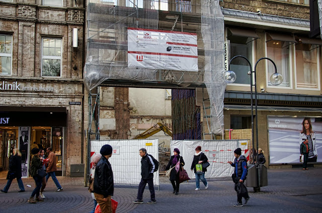 Baustelle Köln, Umbau eines Büro- und Geschäftshauses, Mugatu, Schildergasse 111 / Neumarkt 1a, 50667  Köln, 27.01.2014