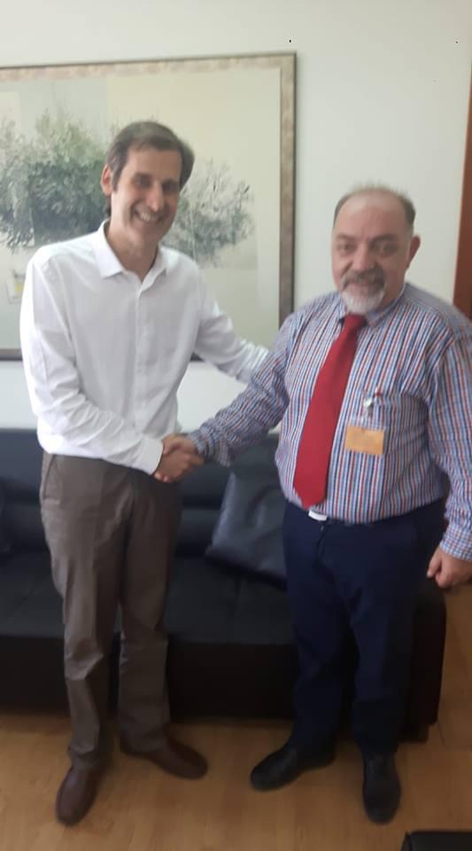 Συνάντηση Γεν. Γραμματέα Υπουργείου Δικαιοσύνης κ. Παπασπύρου - Πρόεδρου του Δ.Σ. Δράμας 31-7-2018