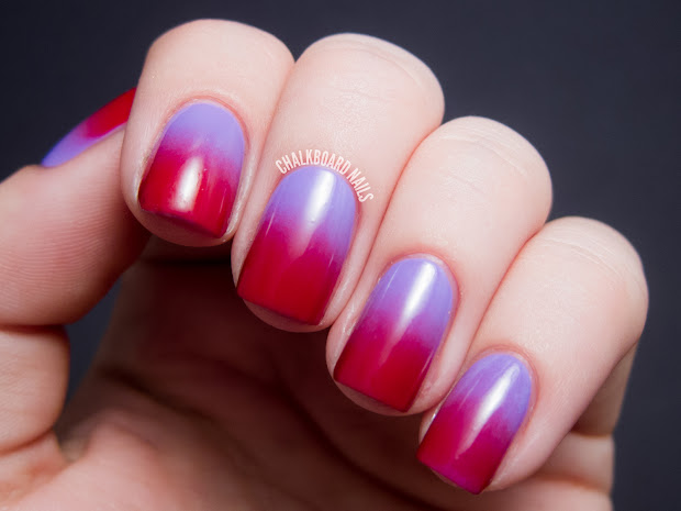swoony gradient lilac red