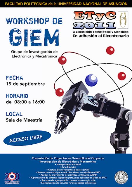 Imagen del Workshop de Grupo de Investigación de Electrónica y Mecanográfica